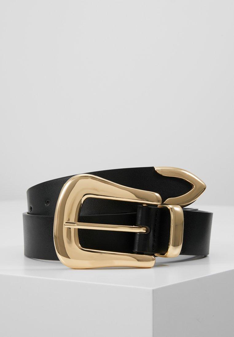 Gina Tricot - BEVERLY BELT - Belt - black/gold