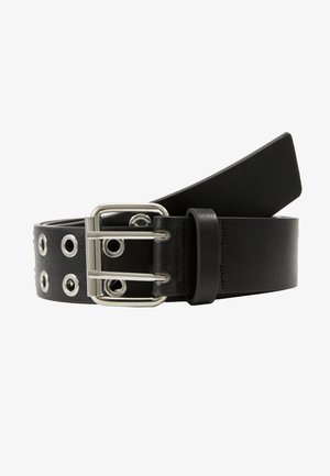 MILLA BELT - Skärp - black / shiny silver