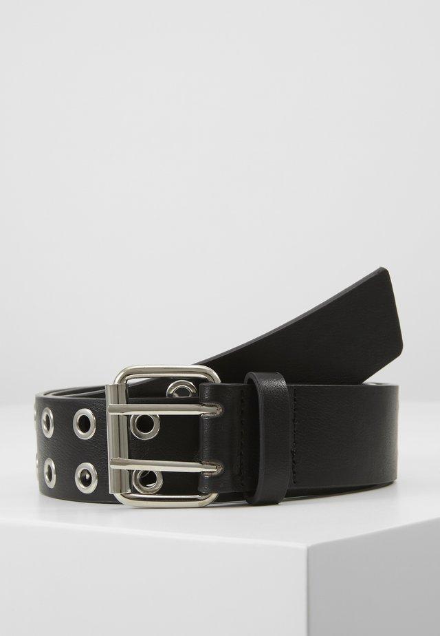 MILLA BELT - Belt - black / shiny silver