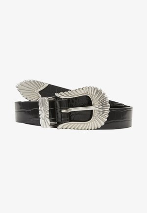 SIMONE BELT - Skärp - black/silver