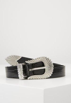 SIMONE BELT - Riem - black/silver