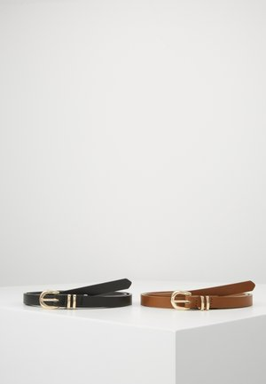 MATI 2-PACK BELT - Belte - black/cognac