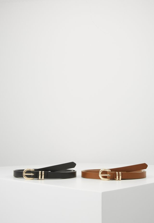 MATI 2-PACK BELT - Belt - black/cognac