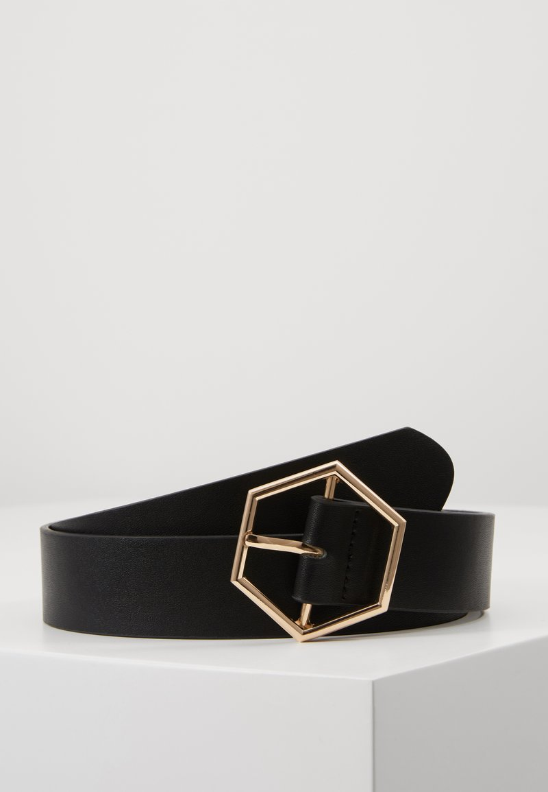 Gina Tricot - ANDIA BELT - Belte - black/gold-coloured