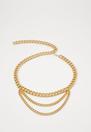 LISA CHAIN BELT - Pásek - ligth gold-coloured