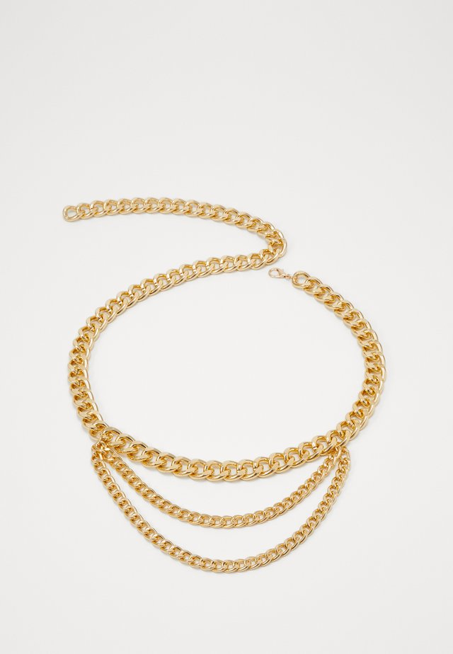 LISA CHAIN BELT - Pasek - ligth gold-coloured