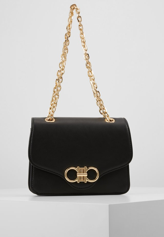 ISA BAG - Torba na ramię - black/gold