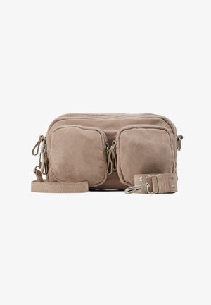CONNIE BAG - Across body bag - beige suede / silver