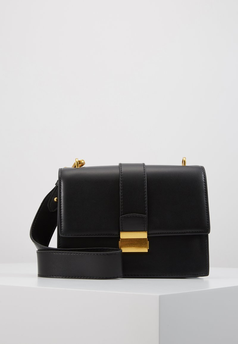 Gina Tricot - JOLINE BAG - Schoudertas - black/antique gold