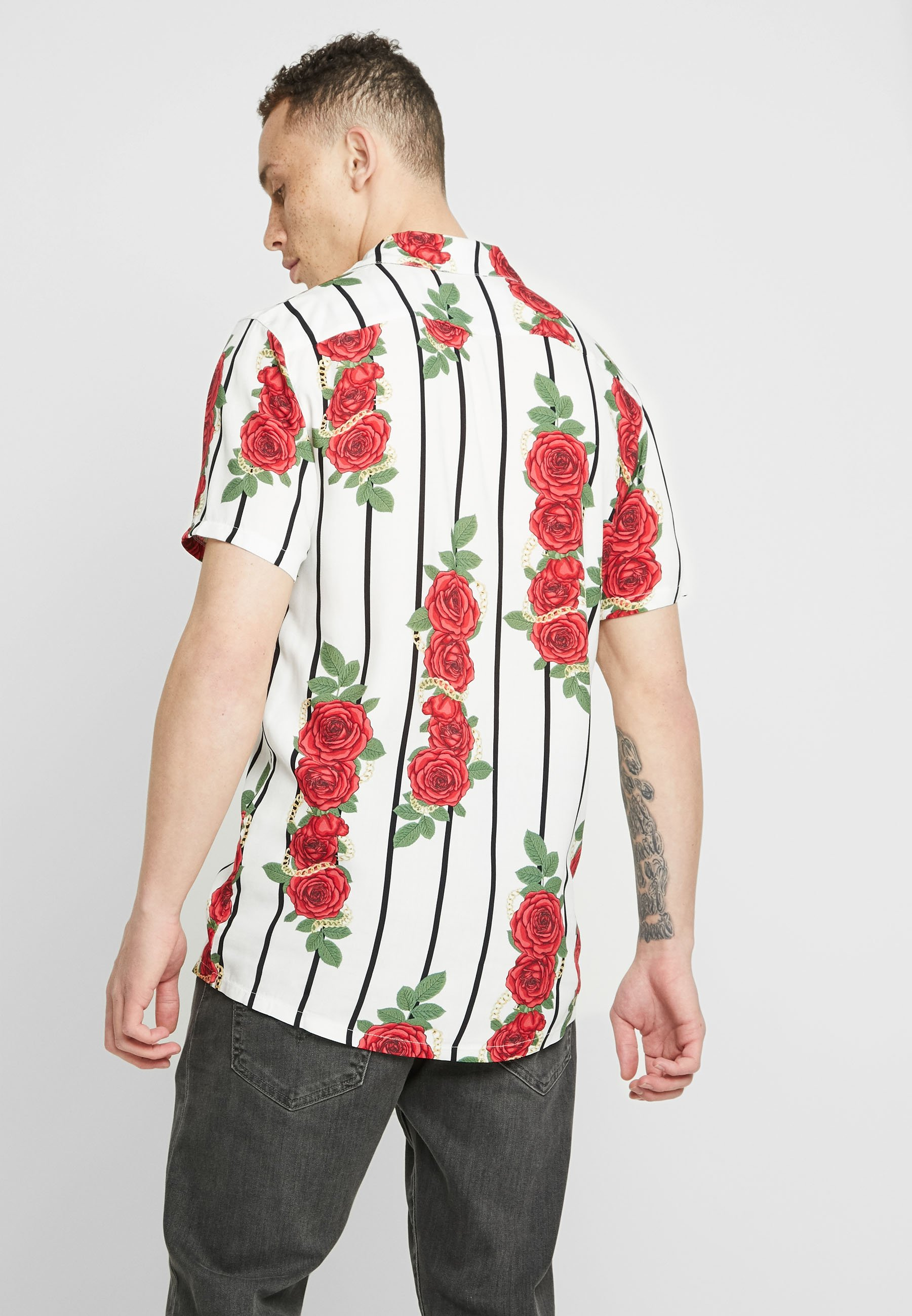 White HawaiiChemise Kavanagh Racer Gianni Roses exCoBd