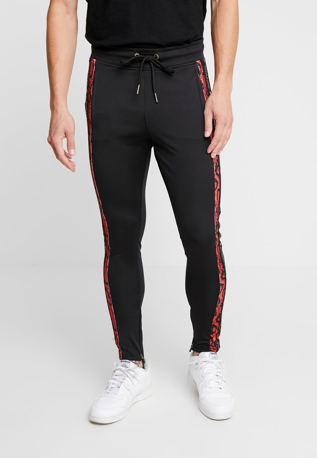 SNAKE  TRACKSUIT - Pantalon de survêtement - black