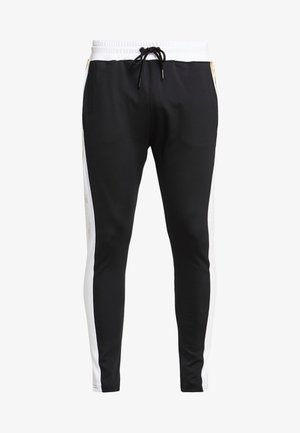 TROUSERS WITH FOIL PRINT - Verryttelyhousut - black
