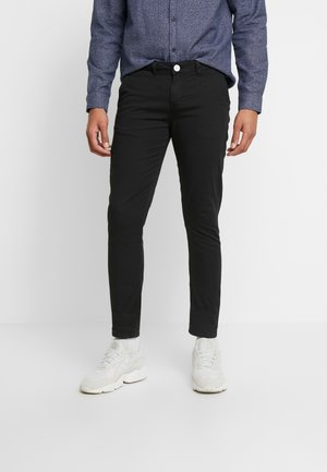 BLACK CHINO PANTS - Chino kalhoty - black