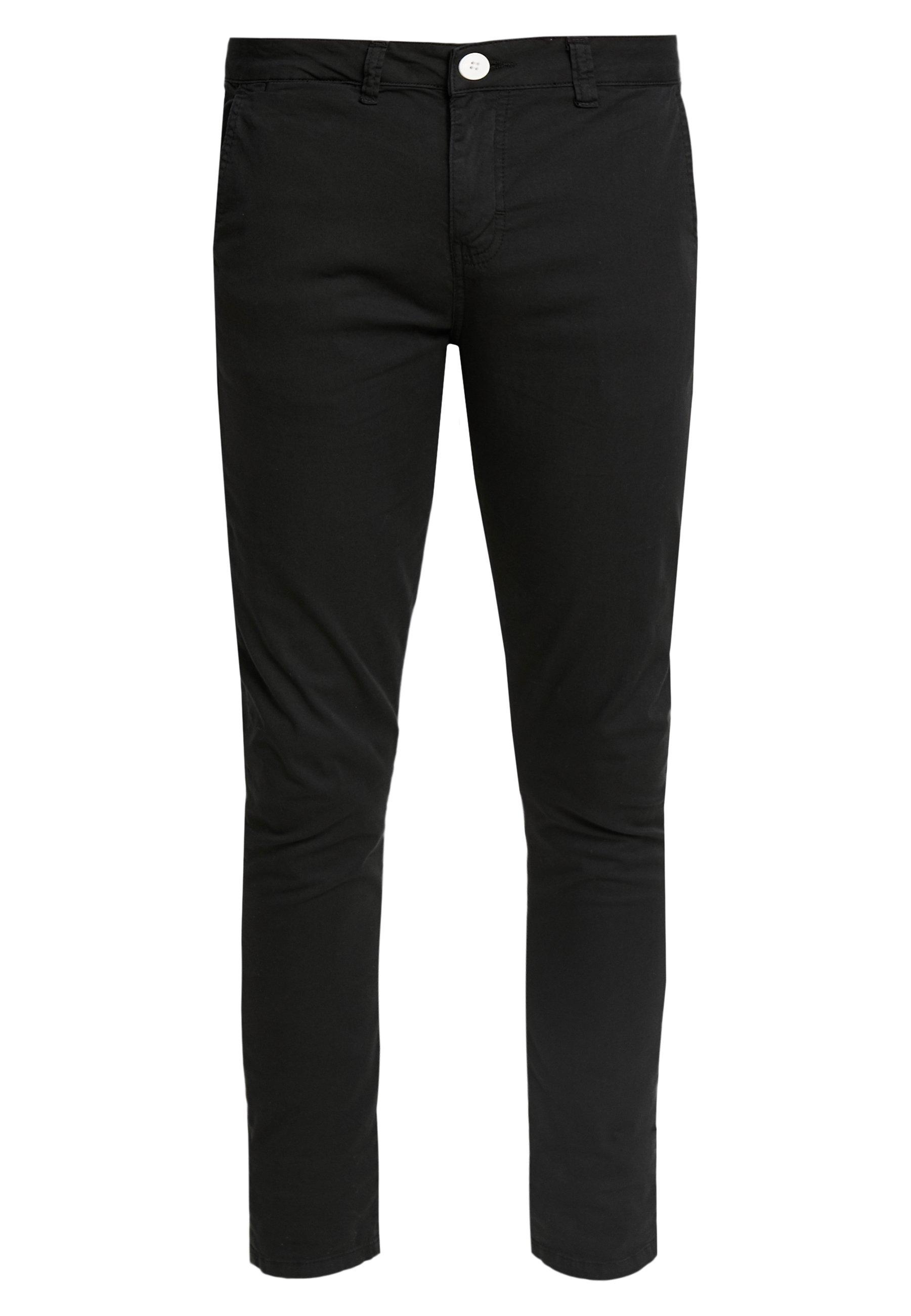 Gianni Kavanagh BLACK CHINO PANTS - Chinosy - black
