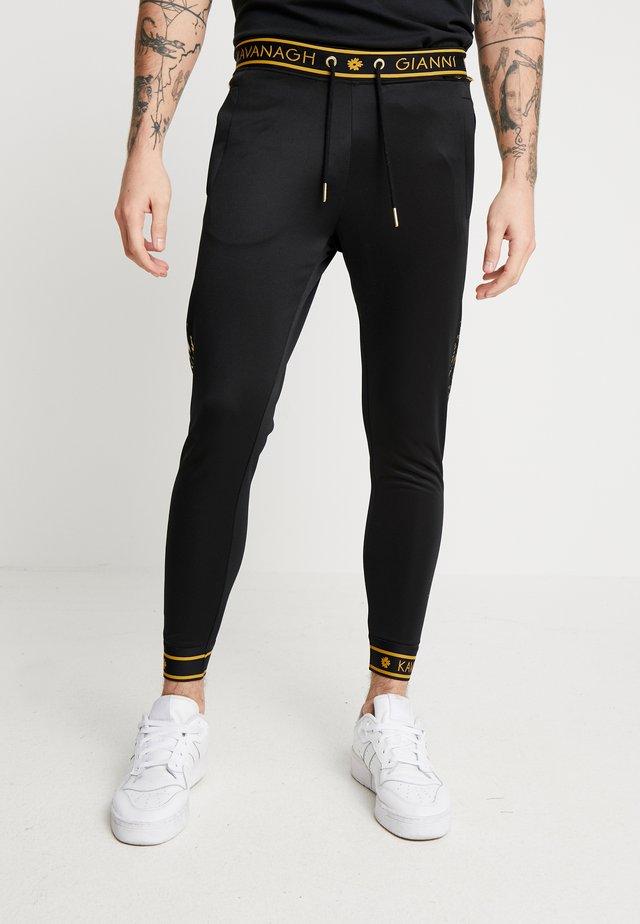 DETAIL JOGGERS - Teplákové kalhoty - black