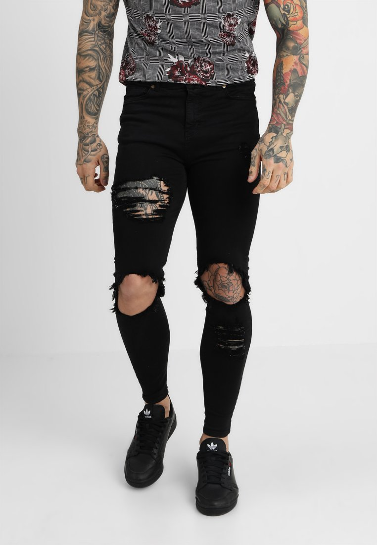 Gianni Kavanagh - DISTRESSED - Jeans Skinny Fit - black