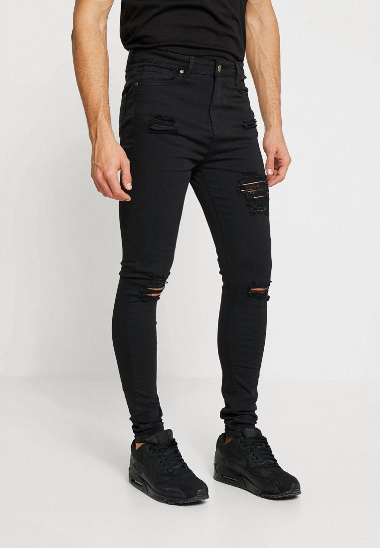 Gianni Kavanagh - RIPPED AND REPAIR - Jeans Skinny Fit - black