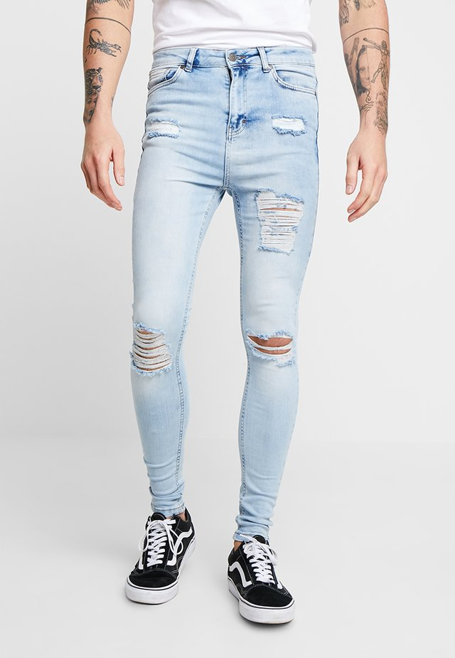 RIPPED AND REPAIR - Skinny džíny - blue
