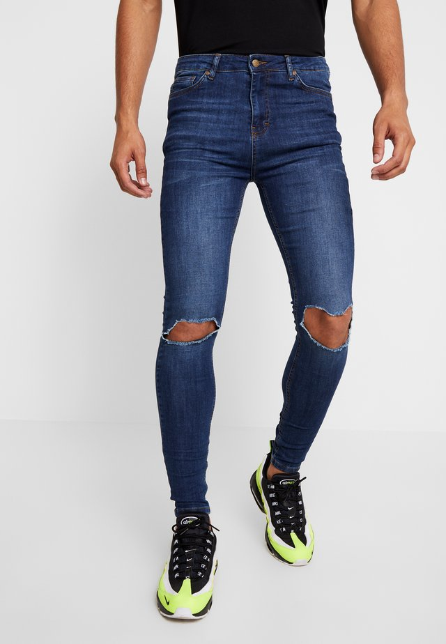 RIPPED KNEES - Jeans Skinny Fit - blue