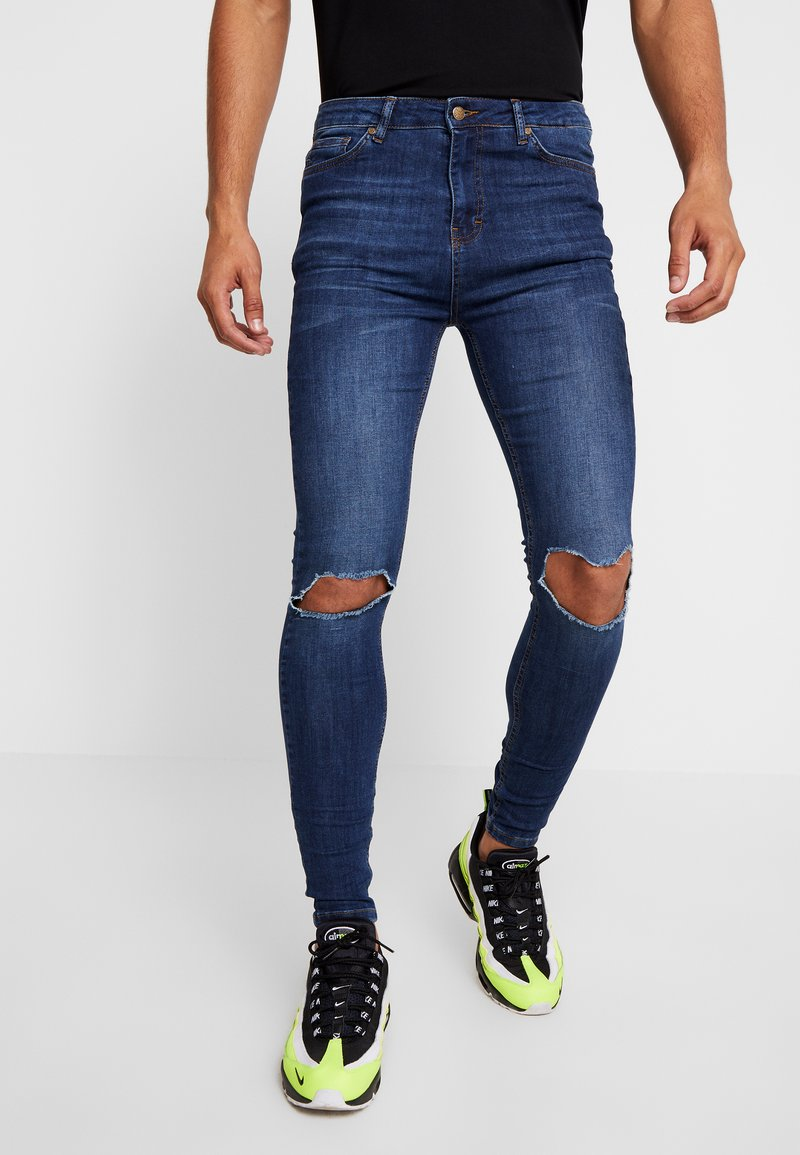 Gianni Kavanagh - RIPPED KNEES - Jeans Skinny - blue
