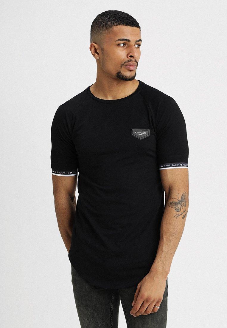 Gianni Kavanagh - TEE WITH ELASTIC - T-shirt med print - black