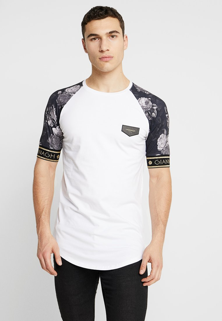 Gianni Kavanagh - TEE WITH NOSTALGIC ROSES - T-shirt print - white