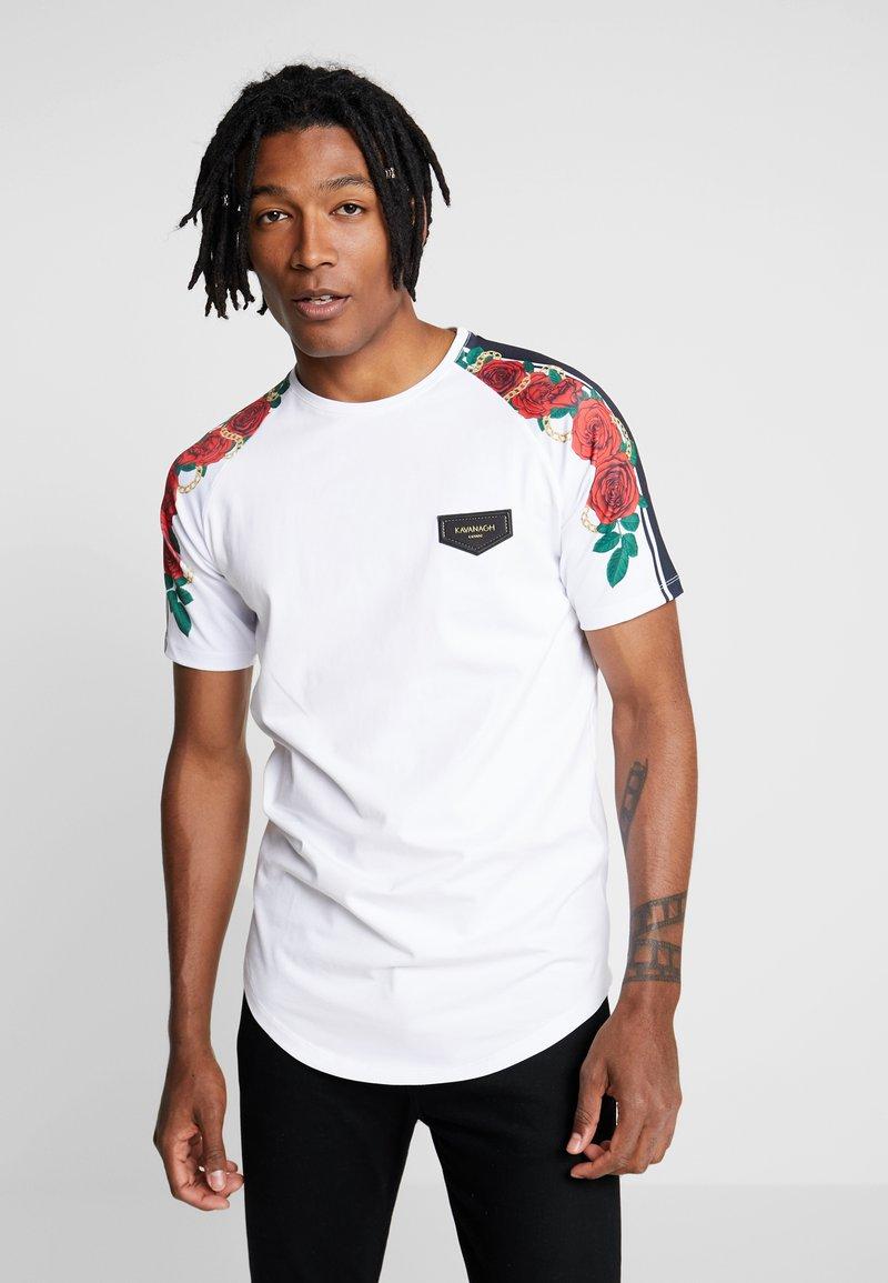 Gianni Kavanagh - RACER ROSES - T-Shirt print - white
