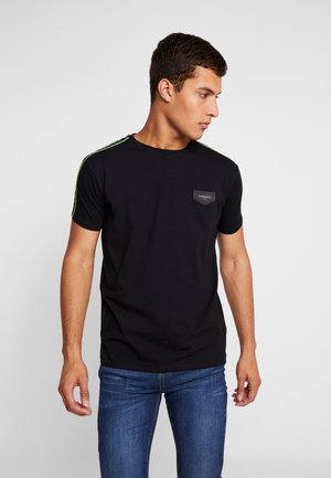 TEE WITH RIBBON - Camiseta estampada - black