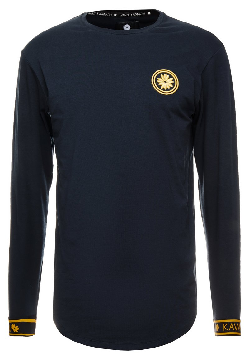 Gianni Kavanagh - NAVY GOLDEN CIRCLE LONG SLEEVE TEE - Long sleeved top - navy