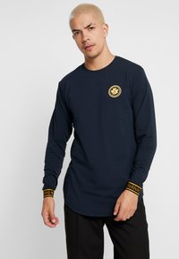 Gianni Kavanagh - NAVY GOLDEN CIRCLE LONG SLEEVE TEE - Pitkähihainen paita - navy - 2