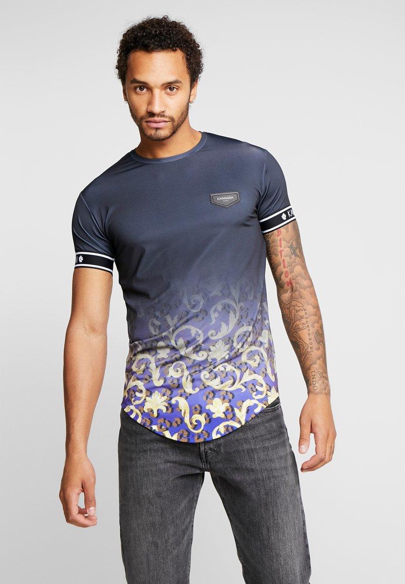 Gianni Kavanagh - FADE BAROQUE LEOPARD TEE - T-shirts med print - black