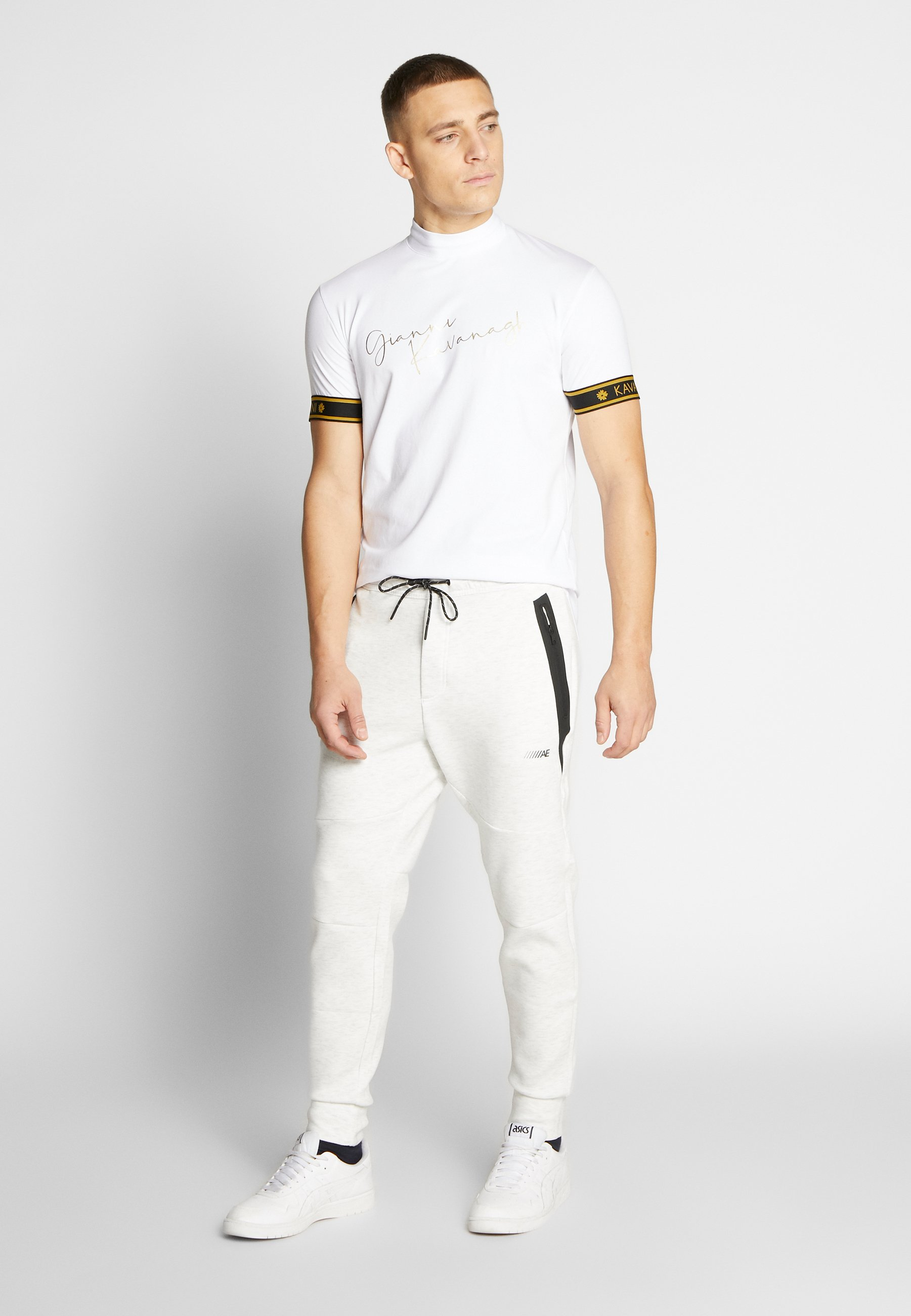 Gianni Kavanagh TURTLENECK SIGNATURE TEE - T-shirt z nadrukiem - white