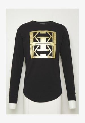 MONOGRAM LONG SLEEVE TEE - T-shirts med print - black