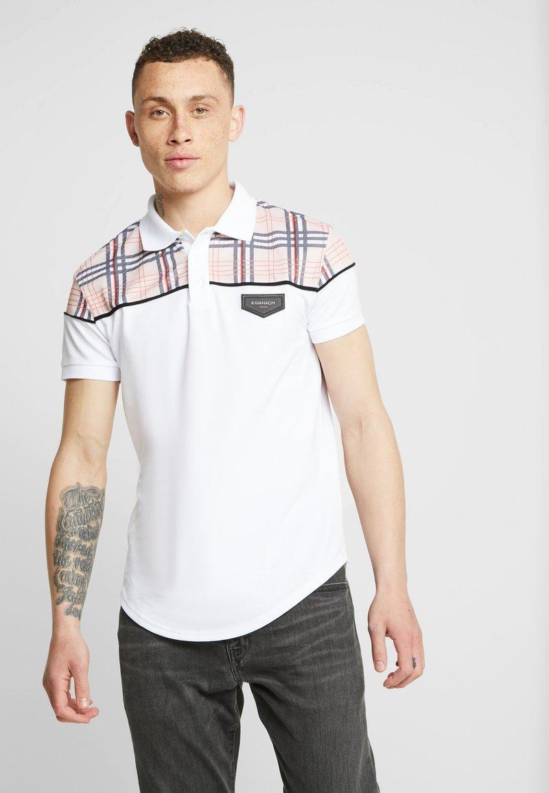 Gianni Kavanagh - BRITISH TARTAN - Polo shirt - white