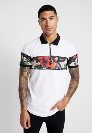 TROPICAL SUMMER - Polo shirt - white