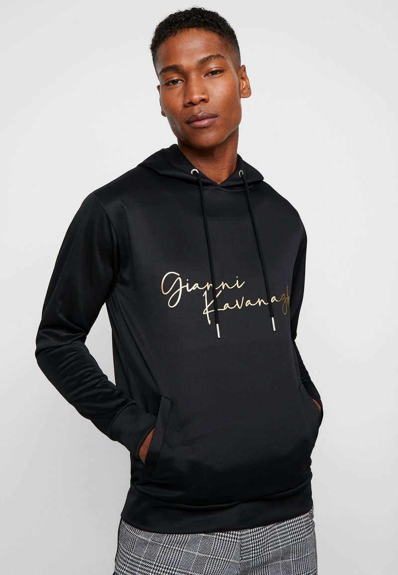 Gianni Kavanagh - HOODIE WITH SIGNATURE LOGO - Hoodie - black