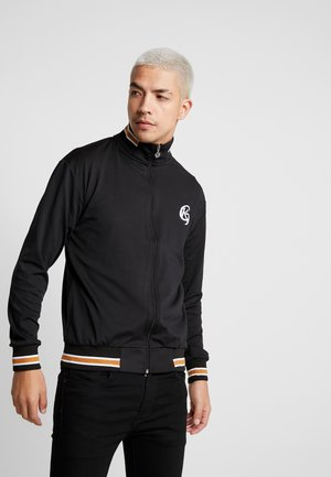 TRACKSUIT JACKET STRIPED - Huvtröja med dragkedja - black