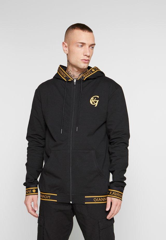FUSION JACKET - Zip-up hoodie - black