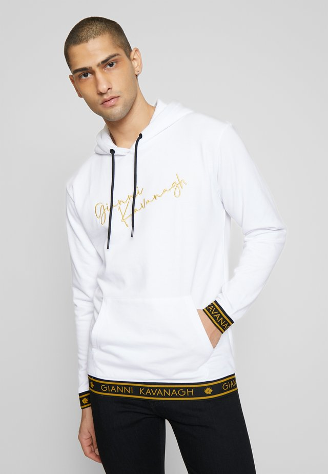 WHITE SIGNATURE HOODIE - Sweat à capuche - white