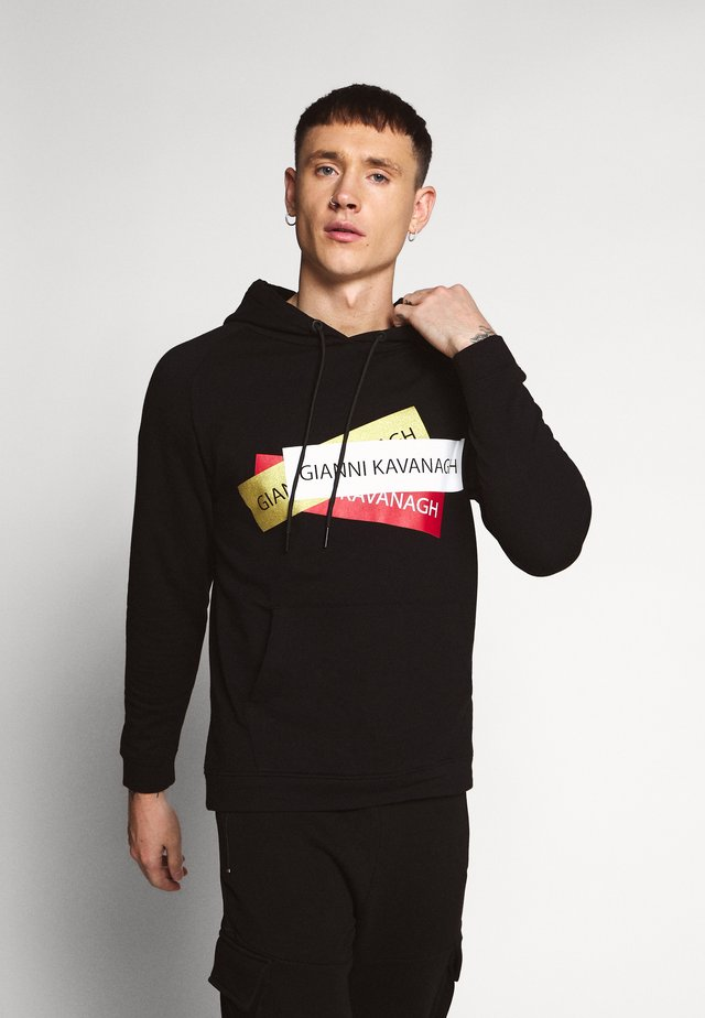STICKERS HOODIE - Sweat à capuche - black