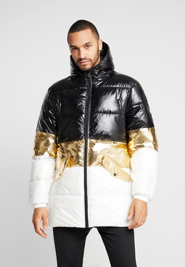 GLACIAR COAT - Wintermantel - black/gold/white