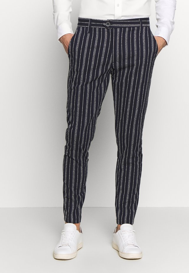 PANTS - Suit trousers - blue