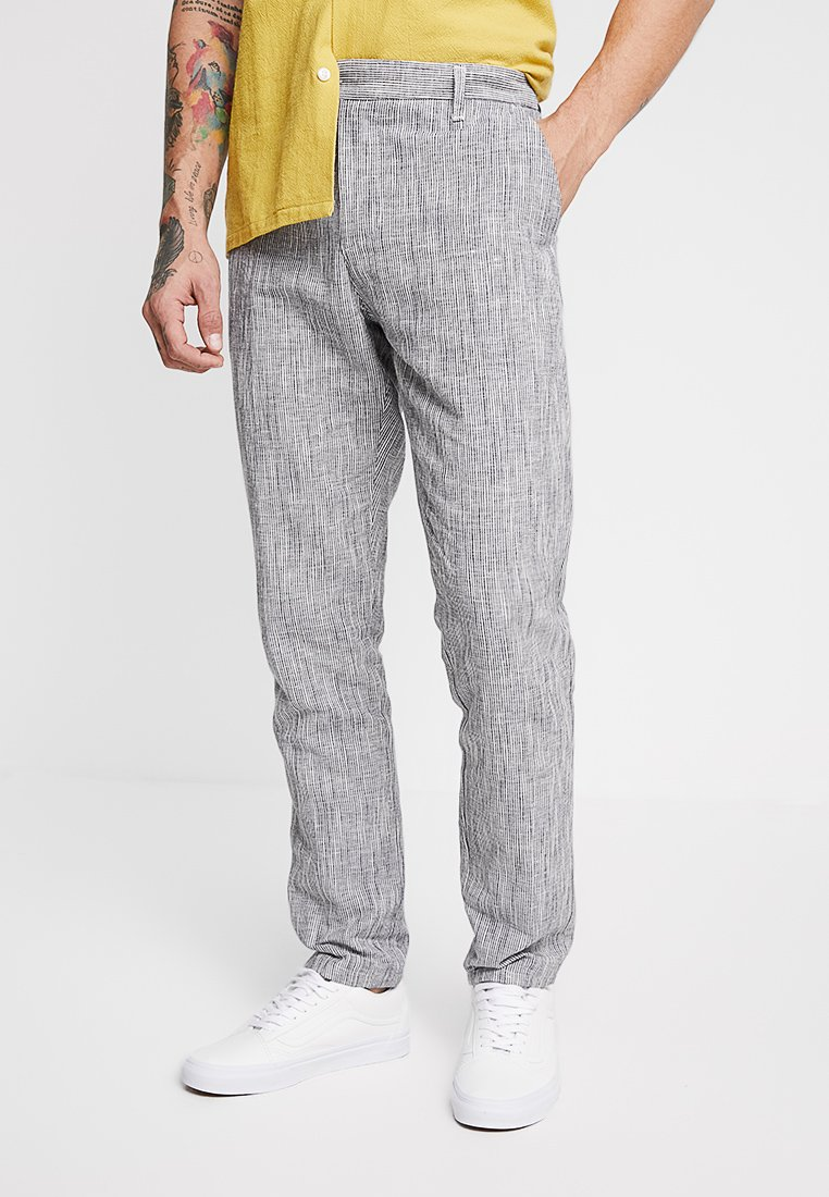 Gianni Lupo - TROUSERS - Stoffhose - blue