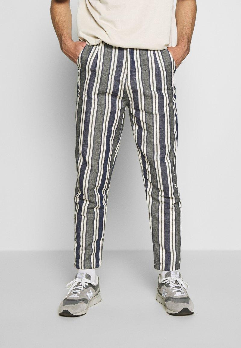 Gianni Lupo - PANTS - Kalhoty - blue