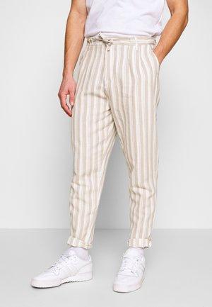 PANTS - Tygbyxor - beige