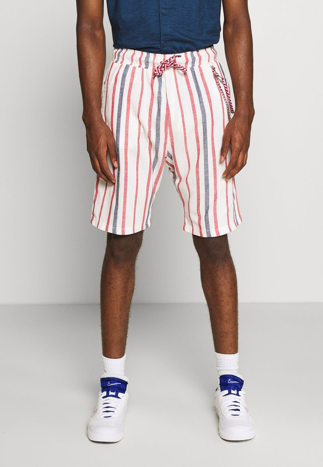 Short - off-white/red