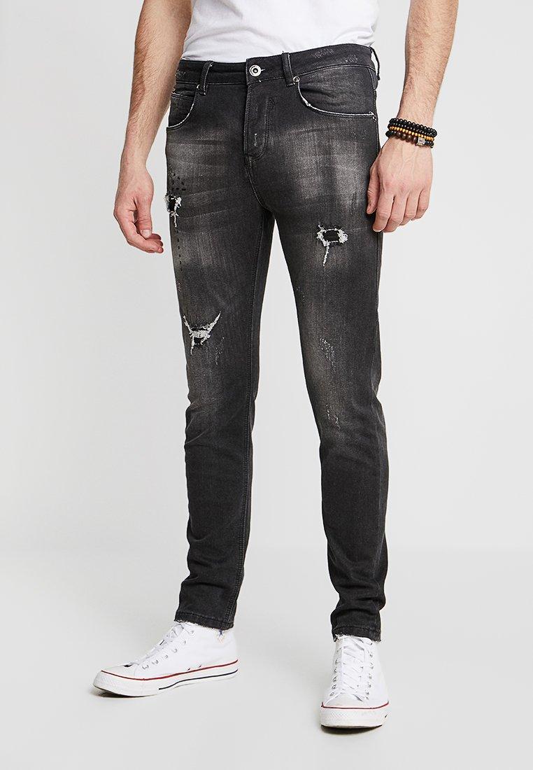 Gianni Lupo - Slim fit jeans - black