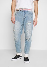 Gianni Lupo - Jeans Tapered Fit - blue denim - 0