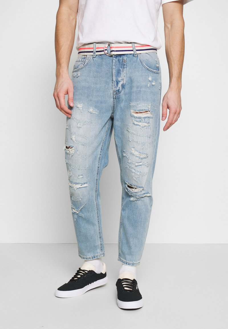 Gianni Lupo - Jeans Tapered Fit - blue denim