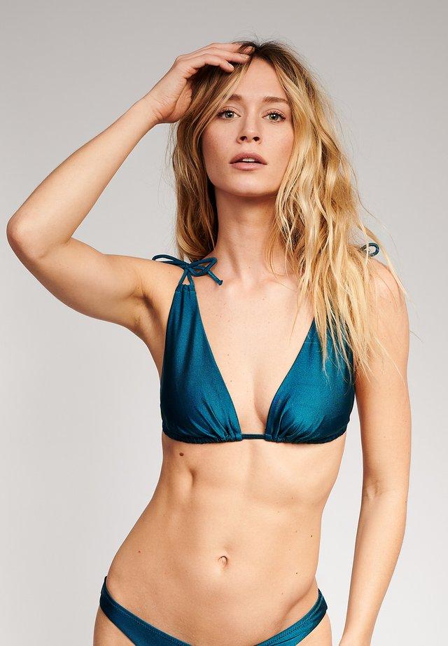 TRIANGLE BIKINI TOP AMALFI - Bikini top - blue
